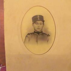 GE - Fotografie foto mare veche militar roman, Romania 1900 - 1950