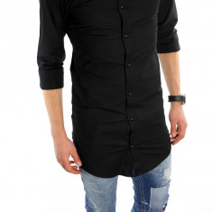 Camasa tip Zara bumbac - camasa neagra - camasa barbati - cod produs: 6004