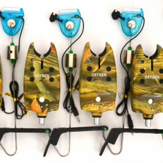 Set 4 Avertizori TLI 07 Camou Si 4 Swingeri Luminosi - Avertizor pescuit, Swingere