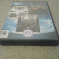 Medal of Honor Allied As. + Battlefield 1942 + Command Conquer Gen. (GameLand) - Joc PC Electronic Arts, Shooting, 18+, Single player