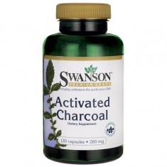 SWANSON-Carbune activat pentru a ușura gazele și balonarea 260 mg 120 Caps - Produse pentru digestie