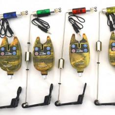 Set 4 senzori TLI01 cu 4 swingere cu contragreutate si led - Avertizor pescuit