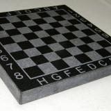 Tabla sah din marmura sau granit de culoare neagra calitate 100% fara piese