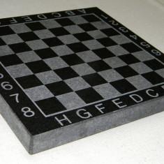 Tabla sah din marmura sau granit de culoare neagra calitate 100% fara piese - Table sah