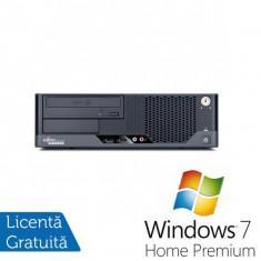 Fujitsu Esprimo E7935 SFF, Intel Core 2 Duo E8400 3.0Ghz, 4Gb DDR2, 160Gb HDD, DVD-RW + Windows 7 Home Premium - Sisteme desktop fara monitor