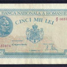 ROMANIA 5000 5.000 LEI 10 OCTOMBRIE 1944 [8] P-55, XF - Bancnota romaneasca