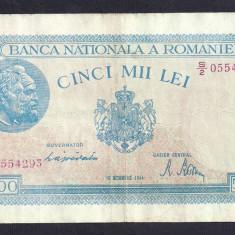 ROMANIA 5000 5.000 LEI 10 OCTOMBRIE 1944 [13] P-55, XF - Bancnota romaneasca