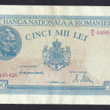 ROMANIA   5000 5.000 LEI  10  OCTOMBRIE  1944  [7]   P-55  ,  XF+