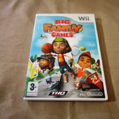 Big Family Games, pentru Wii, original, PAL, alte sute de jocuri - Jocuri WII Thq, Actiune, 3+, Multiplayer