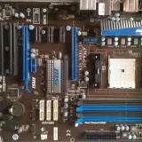 Kit SATA3 4USB 3 QUAD CORE MSI A75A-G55 +AMD Llano A6-3670k 2.7 GHZ Gaming - Placa de Baza Msi, Pentru AMD, FM1, DDR 3, Contine procesor, MicroATX