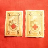 2 Timbre supratipar 5 si 6 M Estonia 1926, varietati de culoare, Nestampilat