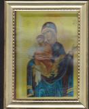 Icoana Maica Domnului, cu rama si geam din plastic, 22 cm x 17 cm