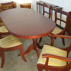 Masa extensibila cu 6 scaune - Set mobila living