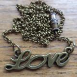 Colier LOVE pe lant de bronz