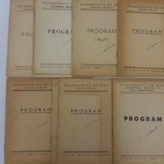 LOT 9 PROGRAME FILARMONICA DE STAT GEORGE ENESCU / STAGIUNILE 1959-1963 - Carte Arta muzicala