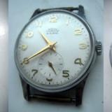Ceas de mana barbatesc Prim in metal, 15 rubine, Cehoslovacia, functional.
