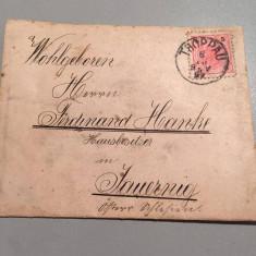 AUSTRIA - FRANZ JOSEF 5 KREUZER SCRISOARE VECHE 1897