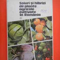SOIURI SI HIBRIZI DE PLANTE AGRICOLE CULTIVATE IN ROMANIA D Torje volulmul 2