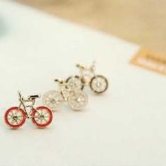 Cercei ce imita bicicleta, diferite culori calitate superioara