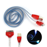 CABLU Date, Incarcare Iphone4. Cablu led, luminos. Iphone4. 1 m USB. Nou, iPhone 4/4S