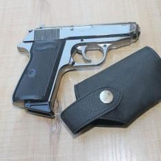 BRICHETA Pistol Walther. Bricheta Metalica, reancarcabila. Toc Inclus. - Bricheta Cu Gaz