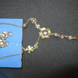 Set colier+cercei vintage cu floare Avon