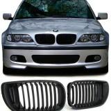 Grile negre BMW seria 3 E46 2001- 2005 (Facelift )