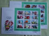 FDC ROMANIA 50 % - Fauna si Flora Blocuri - nr. lista 1187, Romania de la 1950