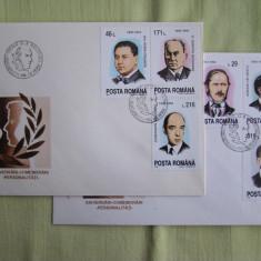 FDC ROMANIA - Aniversari Comemorari Personalitati - nr. lista 1325, Romania de la 1950, An: 1993