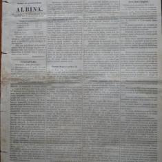 Ziarul Albina , nr. 27 , 1870 , Budapesta , in limba romana , Director V. Babes