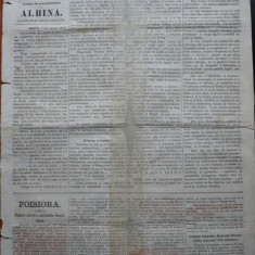 Ziarul Albina , nr. 31 , 1870 , Budapesta , in limba romana , Director V. Babes