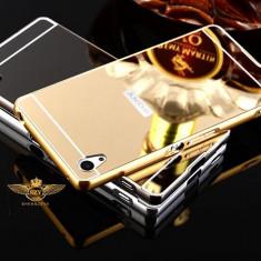 BUMPER ALUMINIU +SPATE ACRIL Oglinda SONY XPERIA Z3, negru - Bumper Telefon