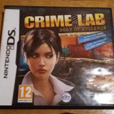 JOC NINTENDO DS CRIME LAB BODY OF EVIDENCE ORIGINAL / by WADDER - Jocuri Nintendo DS, Actiune, 12+, Single player