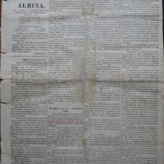 Ziarul Albina , nr. 24 , 1870 , Budapesta , in limba romana , Director V. Babes