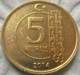 Moneda 5 Kurus - Turcia 2014 *cod 2377, Europa