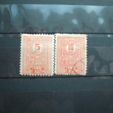 ROMANIA 5 SI 10 BANI 1915 / TAXA DE PLATA / TIMBRU DE AJUTOR - Timbre Romania, Nestampilat