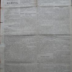 Ziarul Albina , nr. 28 , 1870 , Budapesta , in limba romana , Director V. Babes