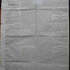 Ziarul Albina , nr. 29 , 1870 , Budapesta , in limba romana , Director V. Babes