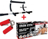 Bara de TRACTIUNI Aparat De Forta Iron Gym + Flexor, Pe usa, Iron Gym