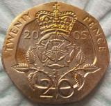 Moneda 20 Pence - ANGLIA, anul 2005 *cod 2367  XF