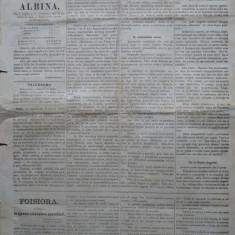 Ziarul Albina , nr. 26 , 1870 , Budapesta , in limba romana , Director V. Babes
