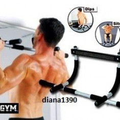 Bara de TRACTIUNI Aparat De Forta Iron Gym - Bara tractiuni Iron Gym, Pe usa