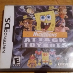 JOC NINTENDO DS NICKTOONS ATTACK OF THE TOYBOTS ORIGINAL / by WADDER - Jocuri Nintendo DS Thq, Actiune, 3+, Single player