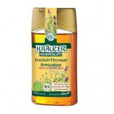 Sirop BIO cu miere impotriva tusei, cu fenicul si cimbru Kräuter® - Remediu din plante
