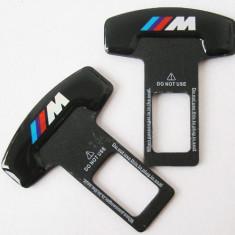 2 x Suport centura auto siguranta pentru BMW M Power elimina sunetul suparator