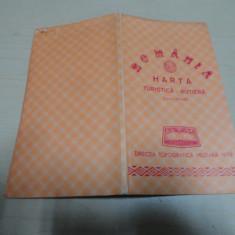 Romania/ harta turistica rutiera/ scara 1: 850 000// 1979 - Harta Romaniei