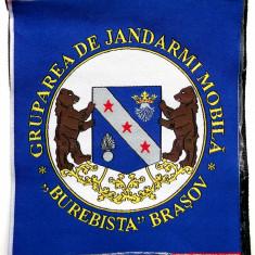 ROMANIA ECUSON MILITAR GRUPAREA DE JANDARMI MOBILA BUREBISTA BRASOV CU SCAI **