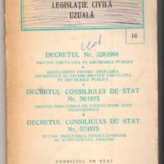 (C6584) DECRETUL 328/1966, 56/1975, 57/1975 PT. PREGATIREA CONDUCATORILOR.... - Carte Legislatie