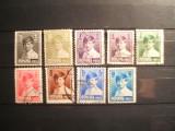 ROMANIA 1928 - 1930 / 9 VAL  , REGELE MIHAI COPIL, Stampilat
