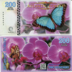 ATLANTIC FOREST- 200 AVES 2016- UNC!! - bancnota america